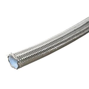Dicsa Hydrauliekslang DN10 RVS - PTFE2DN10 | AISI-304 | 270 bar | 27 MPa | 55 mm | 0,9 mm | 0,24 kg/m | 3/8 Inch | 9,0 mm | 12,8 mm | SFD-1K-10-RVS | 17,5 mm