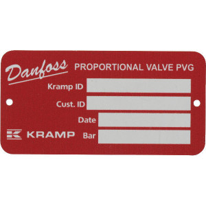 Danfoss Type plaat PVG32 - PVG329TP