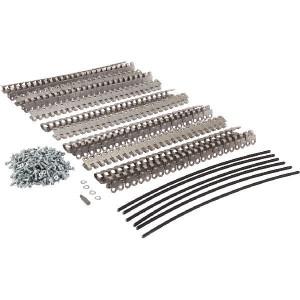 Riemverbinder set (6) 290mm - RBBMS252906RVS | 300 mm | 3,5 7,5 mm | 650 N/mm² N/mm² | 290 mm | 290 mm | RVS met nylon mantel