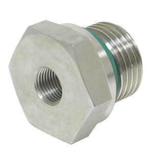 "Dicsa Verloopring 1 1/2 x 1/2 WD RV - REDR11212WDRVS | DIN ISO 228 | RVS 316 L | Nitrilrubber (NBR) | 400 bar | 1 1/2"" BSP | 1/2"" Inch BSP | 22 mm"