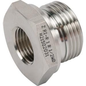 "Dicsa Verloopring 1 x 1/2 BSP RVS - REDR112WDRVS | DIN ISO 228 | RVS 316 L | Nitrilrubber (NBR) | 60 bar | 1"" BSP | 1/2"" Inch BSP | 18 mm"