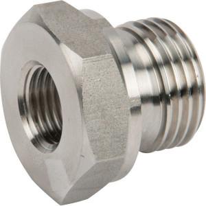 "Dicsa Verloopring 1/2 x 1/4 RVS - REDR1214WDRVS | DIN ISO 228 | RVS 316 L | Nitrilrubber (NBR) | 400 bar | 1/2"" BSP | 1/4"" Inch BSP | 14 mm"
