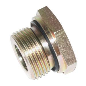 """Voss Verloopnippel R1 R3/8 - REDR138WD   DIN ISO 228   Nitrilrubber (NBR)   Verzinkt   400 bar   1"""" BSP   3/8"""" Inch BSP   29,0 mm"""