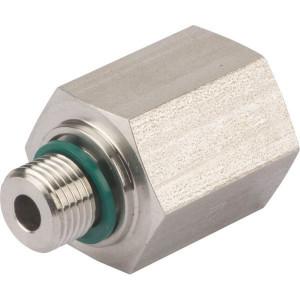 "Dicsa Verloopnippel 1/8 x 1/4 WD RV - REDR1814WDRVS | DIN ISO 228 | RVS 316 L | Nitrilrubber (NBR) | 630 bar | 8 mm | 1/8"" | 1/4"""