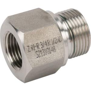 "Dicsa Verloopring 3/4 x 1/2 RVS - REDR3412WDRVS | DIN ISO 228 | RVS 316 L | Nitrilrubber (NBR) | 400 bar | 3/4"" BSP | 1/2"" Inch BSP | 16 mm"