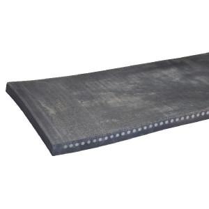 Rubber slijtstrip met staal inlage - RPU25040S | Systeem rubbermat | 35 40 mm | 2500 mm | 400 mm