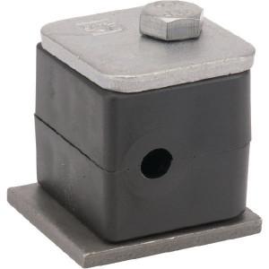 Stauff Pijpklem cpl. 6 mm (5) - RS006P005 | DIN 3015/1 | 25 N/mm² N/mm² | 6 mm | 27 mm | 13,5 mm | 31,5 mm | M 6 x 30 (1x)