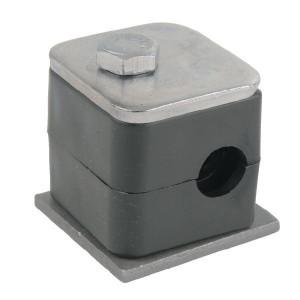 Stauff Pijpklem cpl. 8 mm (1) - RS008P001 | DIN 3015/1 | 25 N/mm² N/mm² | 8 mm | 5/16 Inch | 27 mm | 13,5 mm | 31,5 mm | M 6 x 30 (1x)