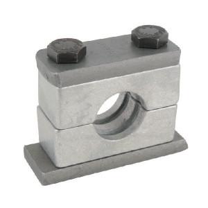 Stauff Alu leidingklem cpl. C1 6mm - RS106Z | Geribd binnenvlak | Aluminium | DIN 3015/2 | 300° C °C | 150 N/mm² N/mm² | 32 mm | DIN 931 M 10 x 45