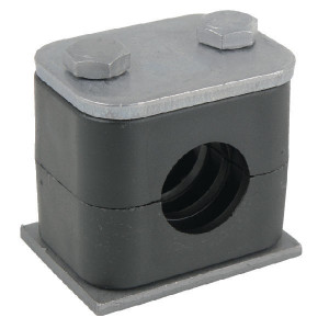 Stauff Pijpklem cpl. 8 mm (1) - RS108P001 | DIN 3015/1 | 25 N/mm² N/mm² | 8 mm | 5/16 Inch | 27 mm | 13,5 mm | M 6 x 30 (2x)