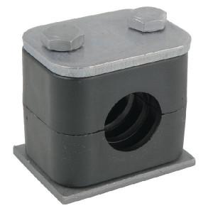 "Stauff Pijpklem cpl. 1/4"" (5) - RS204P005 | DIN 3015/1 | 25 N/mm² N/mm² | 13,5 mm | 33 mm | 16,5 mm | 40,5 mm | M 6 x 35 (2x)"