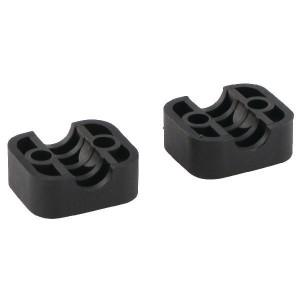 Stauff Klemhelften PA A1 6mm - RS911106PA | Geprofileerd binnen | Goede UV-bestendigheid | Lange levensduur | 2 helften (1 paar) | Polyamide (PA) | 6 mm | 34 mm | 20 mm