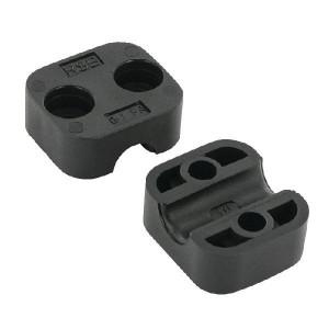 "Klemhelft zwart glad A1 10 mm - RS911110PAG | Gladde binnenkant | Goede UV-bestendigheid | Lange levensduur | 2 helften (1 paar) | Polyamide (PA) | 10 mm | 34 mm | 26,4 mm | 20 mm | G 1/8"" Inch"