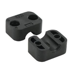 "Stauff Klemh. zwart glad A2 12,7 mm - RS9112127PAG | Gladde binnenkant | Goede UV-bestendigheid | Lange levensduur | 2 helften (1 paar) | Polyamide (PA) | 12,7 mm | 40 mm | 32,2 mm | 26 mm | 1/2"" Inch"