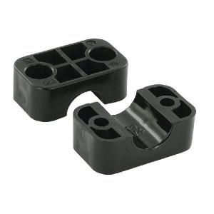 "Stauff Klemhelft zwart glad A3 19 mm - RS911319PAG | Gladde binnenkant | Goede UV-bestendigheid | Lange levensduur | 2 helften (1 paar) | Polyamide (PA) | 19 mm | 48 mm | 33 mm | 3/4"" Inch"