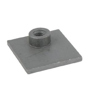 Stauff Aanlasplaat enkel staal A0 - RS9310