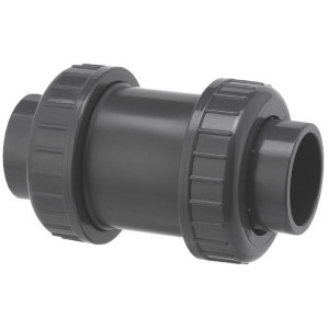 VdL Terugslagventiel 32 / DN 25 - RV032PVC | 120,5 mm | 32 mm | 75,5 mm | 388 l/min | 16 bar | 73 mm