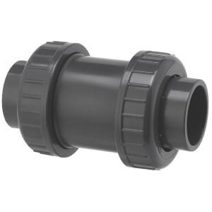 VdL Terugslagventiel 63 / DN 50 - RV063PVC | 205,5 mm | 63 mm | 129 mm | 1.658 l/min | 16 bar | 124 mm