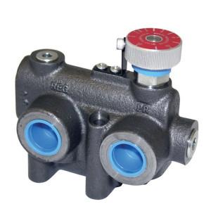 """Webtec 3-weg stroomr.vent. 0-30 L/min - RV2FV2V012030   250 bar   114 l/min   Gietijzer   35 207 bar   0 30 l/min   3/4"""" BSP   3/4"""" BSP   114 l/min P   30 l/min REG"""