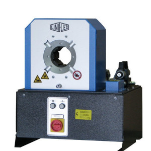 Uniflex Slangenpers cpl. - S4ECO | 160 kg | RAL 5012 blauw | 3kW 230/400V | 1.800 kN