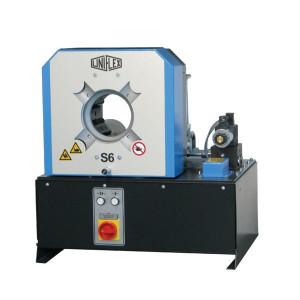 Uniflex Slangenpers cpl. - S62ECO | 248 kg | RAL 5012 blauw | 239L, 266L | 2.000 kN