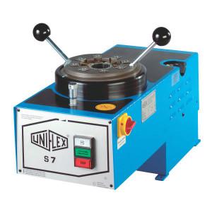 Uniflex Slangenpers cpl. - S7 | RAL 5012 blauw | Elektromotor 0,55 kW 400V | 239L, 265 | 2.400 kN