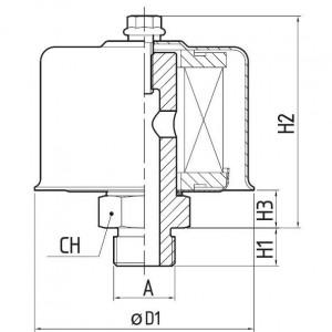 MP Filtri Ontluchtingsfilter SA 053-G2 - SA053G2L10