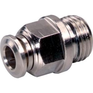 Insteekkoppeling recht 6xM12x1 - SCS6M121B | Messing vernikkeld | NBR 70 | 6 mm | M 12 x 1 | 15,5 mm