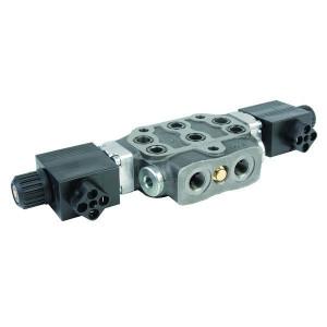"Walvoil Sectie DW. Elektrisch bediend 12VDC - SD6118ES312VDC | 45 l/min | 315 bar | 3/8"" BSP | 12 VDC V"