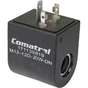 Comatrol Spoel 12V DC, M13, 20W DN - SD9M1312D20WDN   12V DC V   39.3 mm   45.5 mm   13,15 mm   32,8 mm