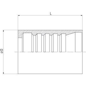 Dicsa Huls, R15-DN50 SS - SFDR1550RVS | 85 mm | 100 mm