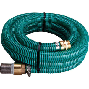 Aanzuigslang set 4 m - SH2541 | Transparant / groen | Transparant / groen | PVC spiraal | 1 Inch | 110 mm | 0,6 bar | 4.000 mm