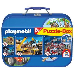 Schmidt Puzzelkoffer met 4 puzzels - SH55599 | 36,1 x 24,3 cm