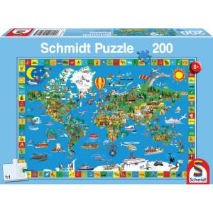 Schmidt Puzzel Jouw bontgekl. aarde - SH56118 | 43x29 cm