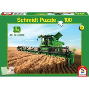 Schmidt Puzzel John Deere maaidorser - SH56144 | 36,1 x 24,3 cm | John Deere