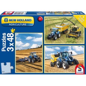 Schmidt Puzzel New Holland 3 x 48 st - SH56214 | 43,2x29,1 cm | New Holland