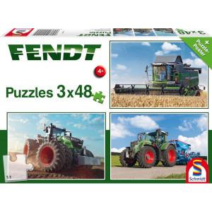 Schmidt Puzzel Fendt 3x48 st - SH56221 | 36,1 x 24,3 cm