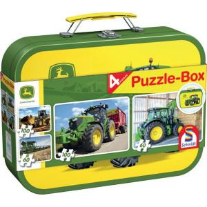 Schmidt Puzzel JD 2x60 / 2x100 st - SH56497 | 36,1 x 24,3 cm | John Deere