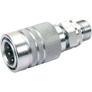 "Voswinkel Koppelhuis 3/8 - M18X1,5-10S - SKPF10S18 | HP08-1-S1018 | NBR / PTFE | Wit gepassiveerd | 250 bar | 10S A | 32 mm | 17,3 mm | 12 mm | 3/8"" | 40 l/min | ISO 7241-1-A | 250 bar | 40 l/min"