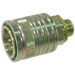 "Voswinkel Koppelhuis 1/2 - M18x1,5-10S - SKPF12S18 | HP101S1018 | NBR / PTFE | Wit gepassiveerd | 250 bar | 10 S A | 38 mm | 20,5 mm | 12 mm | 1/2"" | 80 l/min | ISO 7241-1-A | 250 bar | 80 l/min"