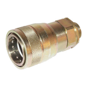 "Voswinkel Koppelhuis 1"" - M30x2,0-20S - SKPF25S30 | HP201S2030 | NBR / PTFE | Wit gepassiveerd | 250 bar | 20 S A | 54 mm | 34,3 mm | 105 mm | 16 mm | 1"" | 160 l/min | ISO 7241-1-A | 250 bar | 160 l/min"