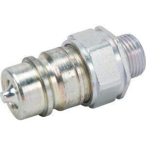 "Gopart Insteeknippel 12L - SKPM12L18N | NBR / PTFE | Wit gepassiveerd | 1/2"""