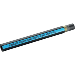Mèrlett Slang Ragno N 19mm - SL2019R | Voor pesticiden | Zwart / Blauw | Polyester | 3/4 Inch | 3,5 mm | 20 bar | 60 bar | 360 g/m