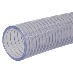"Alfagomma Zuig/persslang 1 3/4"" - SL30134 | Lange levensduur | Transparant | Transparant | Stalen spiraal | 1 3/4 Inch | 180 mm | 0,8 bar | 1.100 g/m"