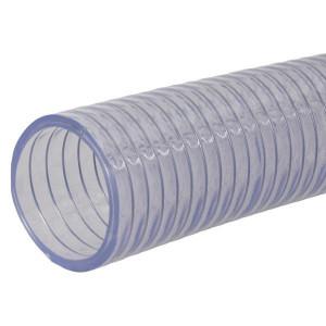 "Alfagomma Zuig/persslang 3/4"" - SL3034 | Lange levensduur | Transparant | Transparant | Stalen spiraal | 3/4 Inch | 15 bar | 0,85 bar | 340 g/m"