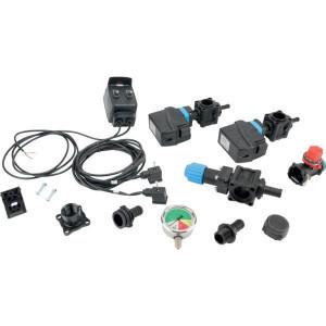 Set kr.stelsel gecal. elektr. 2 sekties + hand drukregelaar + schakelbox - SPKIT2NMEC | 20 bar