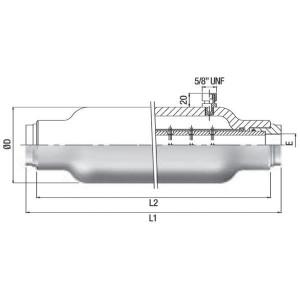 SAIP Pulsatiedemper 15 - SPM | 330 bar | 1 BSP | 80 l/min
