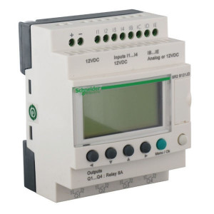 Schneider-Electric Zelio smart relay,8I/4RO,24VAC - SR2B121B | 24V AC | Relais Relais/Transistor | 1 (1kHz) | 4 x 18 characters