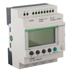 Schneider-Electric Zelio smart rel.,8I/4RO,12VDC - SR2B121JD | 12V DC | Relais Relais/Transistor | 1 (1kHz) | 4 x 18 characters