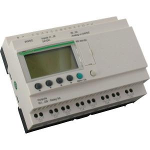 Schneider-Electric Zelio smart rel.,12I/8RO,24VDC - SR2B201BD | 24V DC | Relais Relais/Transistor | 4 x 18 characters